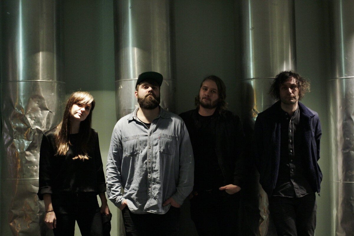 The Megaphonic Thrift: Linn Frøkedal (bass og vokal), Njål Clementsen (gitar), Fredrik Vogsborg (trommer) og Richard Myklebust (vokal og gitar).